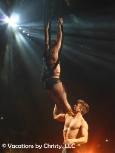 Her aerial skills, while singing, are out of this world!